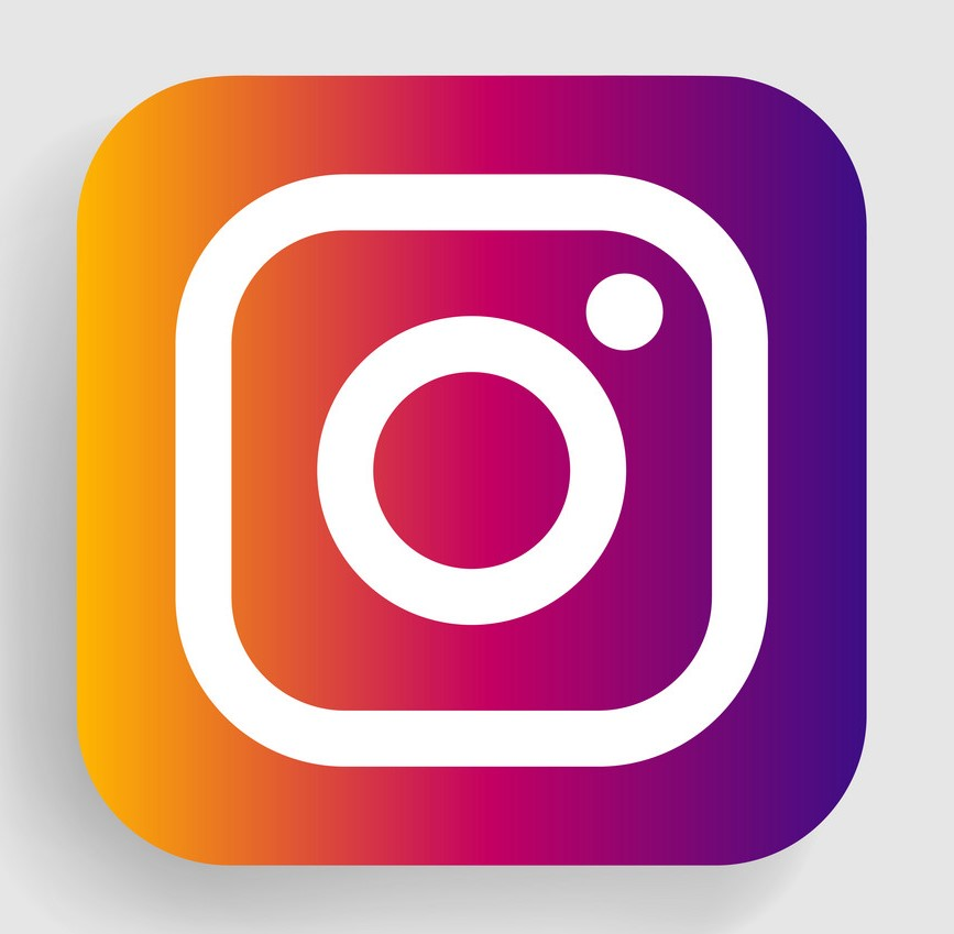 VORONEZH, RUSSIA - JANUARY 11, 2020: Instagram logo square icon with shadow